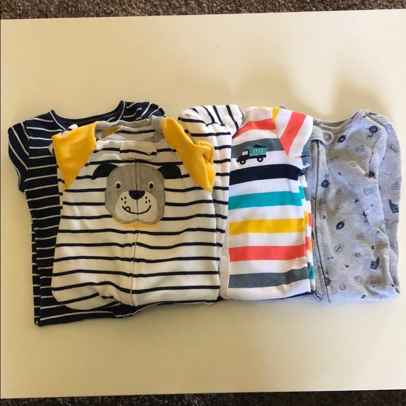 Carter's Other - Bundle of 4 footie one piece pajamas size 6-9 mon